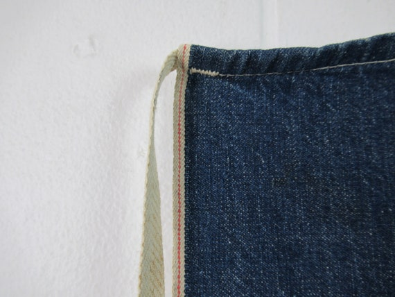 Vintage denim apron, 1940s apron, blue apron, vin… - image 4