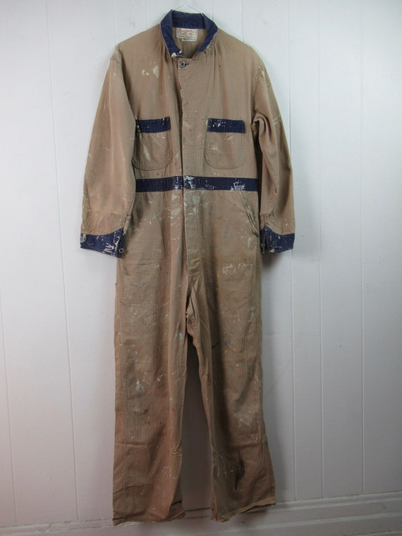 Vintage coveralls, vintage workwear, 1940s covera… - image 2