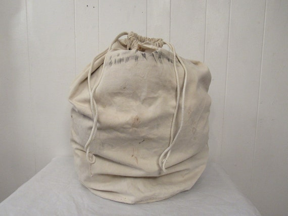 Vintage bag, duffle bag, 1930s bag, cotton twill b