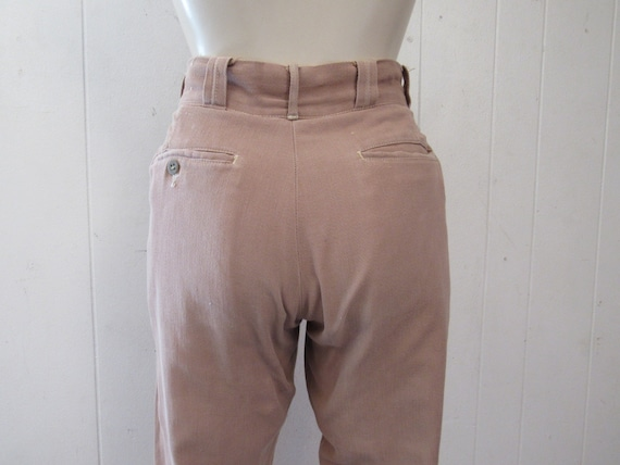 size 27 x 31.5 cotton pants vintage clothing 1930s pants Vintage pants riding pants horse riding pants