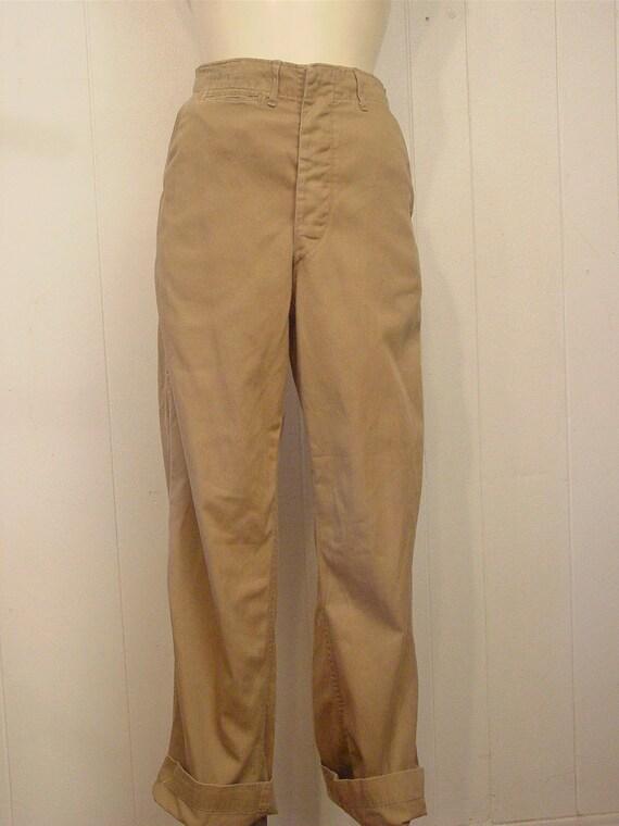 Vintage high waisted pants, khaki pants, Army pan… - image 4