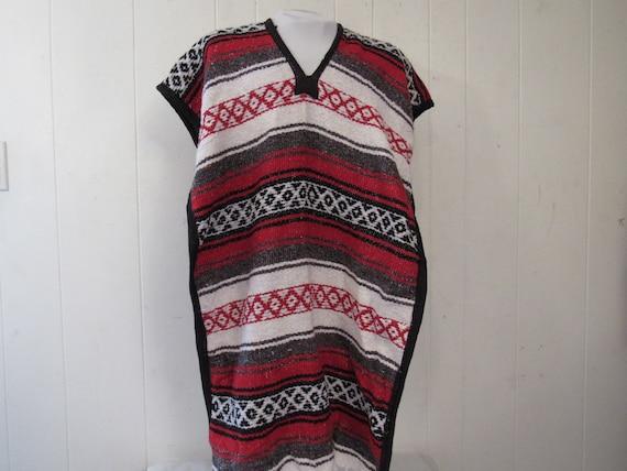 Vintage poncho, Mexican poncho, Mexican blanket po