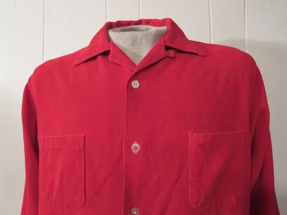 Vintage shirt, corduroy shirt, 1960s Rockabilly s… - image 2