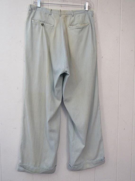 Vintage pants, work pants, 1940s pants, 1940s cha… - image 4