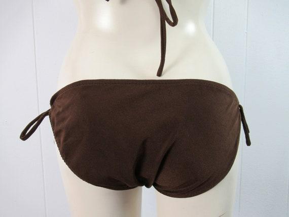 Vintage swimsuit, 1970s bikini, spaghetti strap b… - image 6