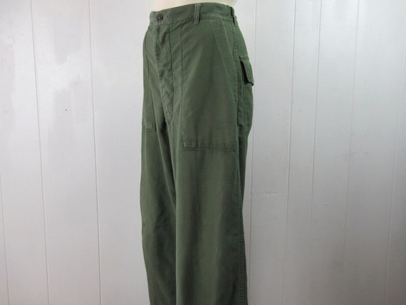 Vintage pants, cotton pants, military pants, Army