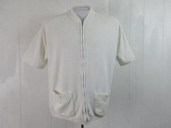 Vintage shirt, 1960s shirt, terrycloth shirt, beac
