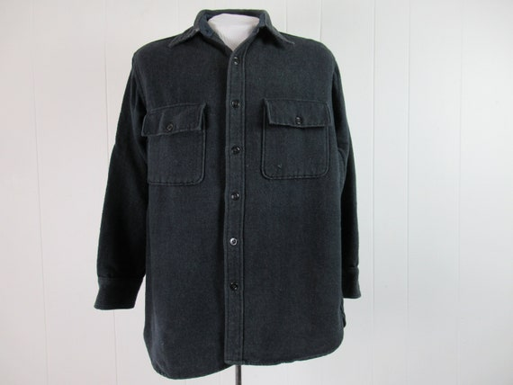 Vintage shirt, 1930s shirt, Monterey shirt, work s