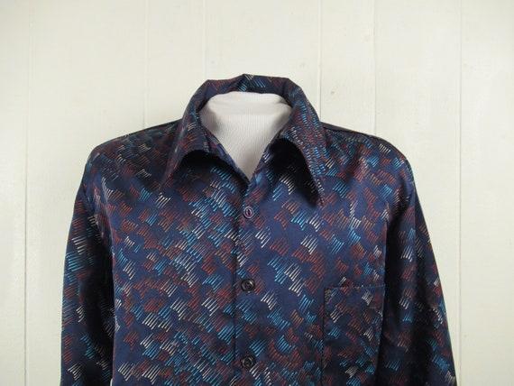 Vintage shirt, Disco shirt, 1970s shirt, retro shi