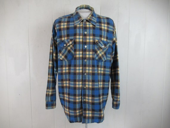 Vintage shirt, flannel shirt, cotton flannel shirt