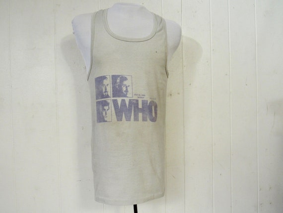 Vintage t-shirt, The Who concert t shirt, 1980s t