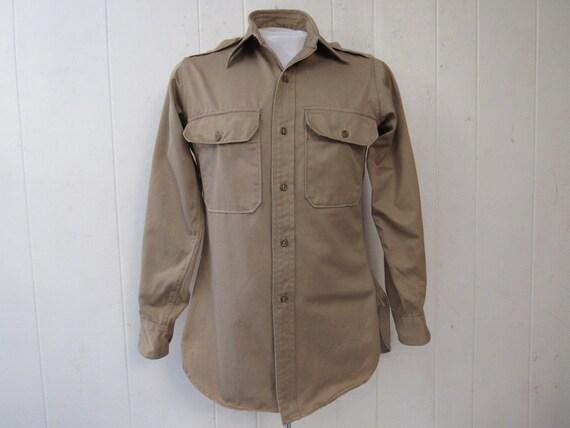Vintage shirt, military shirt, 1940s shirt, Army s