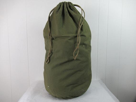 Vintage bag, 1940s bag, Army bag, duffel bag, HBT