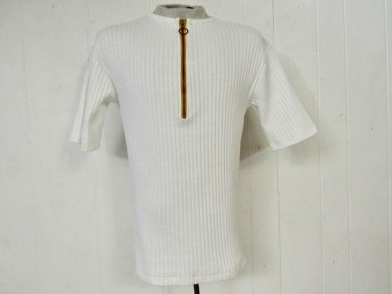 Vintage shirt, 1960s shirt, ring zipper shirt, zip