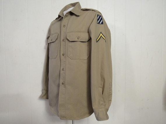 Vintage shirt, military shirt, Army shirt, 1950s … - image 1