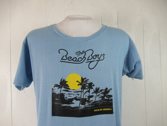 Vintage t shirt, Beach Boys t shirt, 1970s t shirt