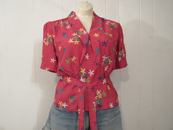 Vintage shirt, vintage blouse, 1930s shirt, 1930s