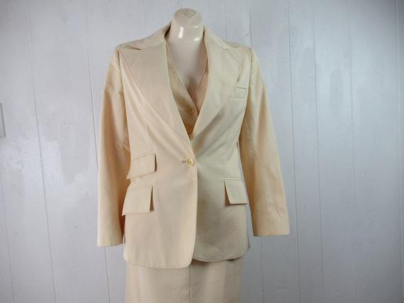 Vintage suit, 1970s suit, women's suit, 3 piece su