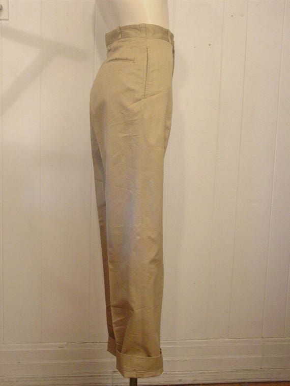 Vintage high waisted pants, khaki pants, Army pant