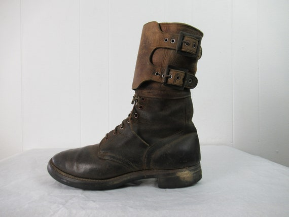 Vintage boots, size 9 1/2, 1940s boots, leather bo