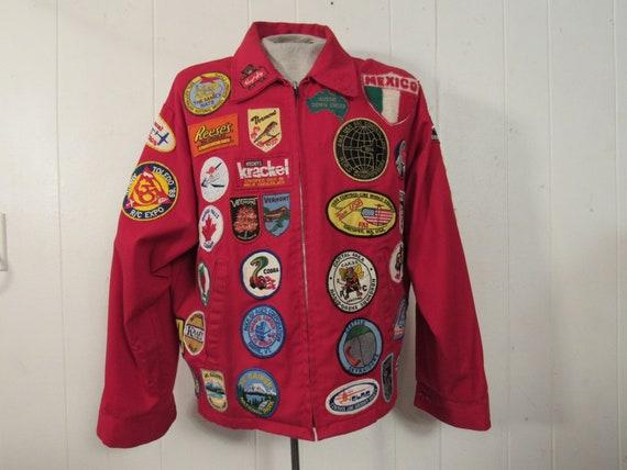 Vintage jacket, vintage patches, patch jacket, fly