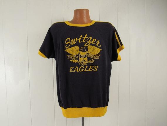 Vintage sweatshirt, 1960s sweatshirt, Switzer Eagl