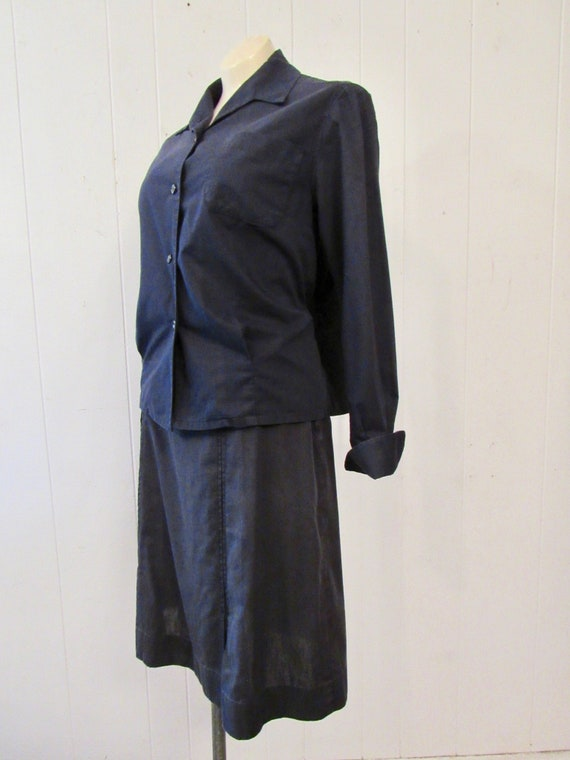 Vintage uniform, 1940s uniform, cotton uniform, s… - image 4