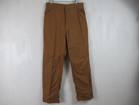 Vintage pants, 1960s pants, cotton pants, hunting