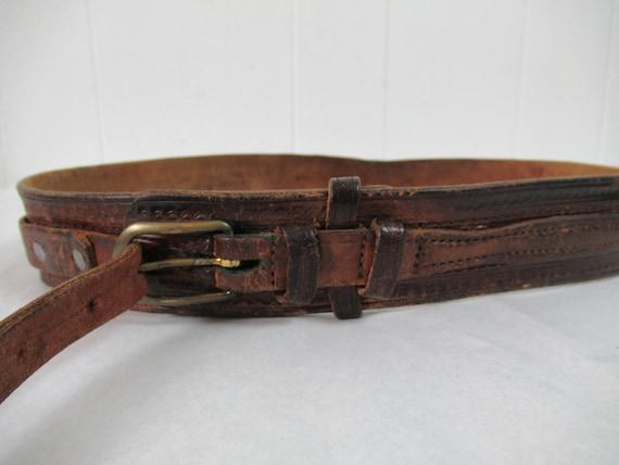 Vintage belt, 1940s belt, cowboy belt, western be… - image 3