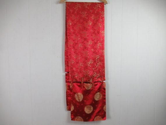 Vintage obi, silk belt, Asian belt, kimono belt, o