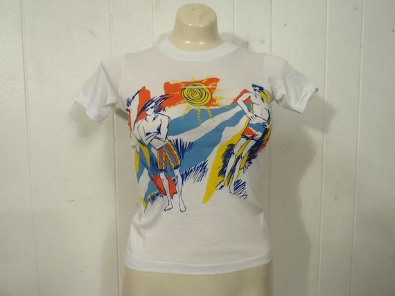 Vintage t shirt, 1980s t shirt, surfer t shirt, oc