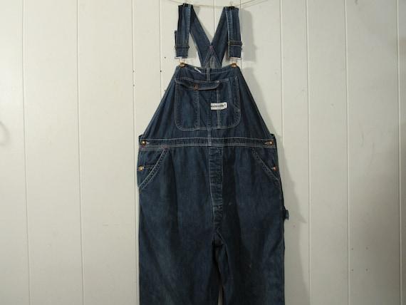 Vintage overalls, denim overalls, 1950s denim over