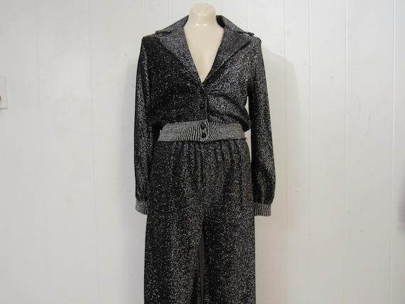 Vintage suit, disco suit, glitter suit, disco jack