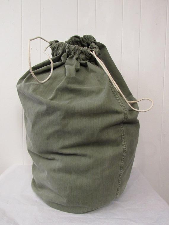 Vintage bag, vintage knapsack, HBT duffel bag, 194