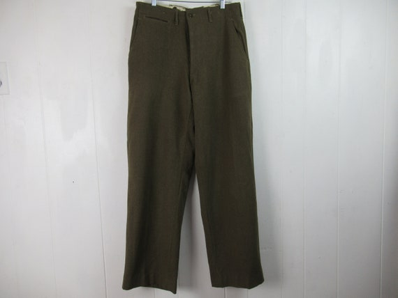 Vintage pants, 32 x 33, Army pants, WWII pants, 19