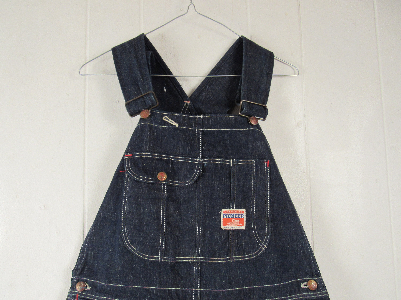 Vintage Overalls & Jumpsuits Vintage Overalls, 1950S Pioneer Denim, Wards, Indigo Vintage Workwear, Clothing, Size 35.5 X 33.5 $0.00 AT vintagedancer.com