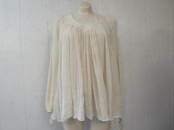 Vintage blouse, Amerikan Climax top, gauze shirt,