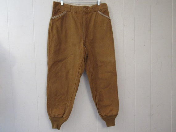 Vintage pants, hunting pants, 1950s hunting pants,