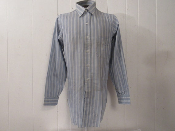 Vintage shirt, 1940s shirt, cotton shirt, button d