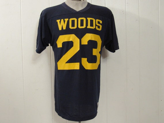Vintage t shirt, football t shirt, #23 shirt, Wood