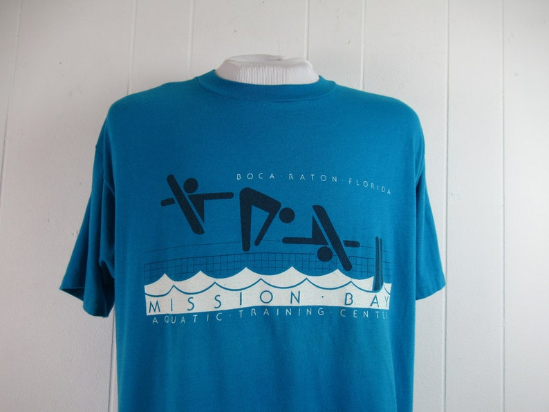 1980s t shirt size XL Aquatic training Center vintage clothing NOS Boca Raton travel t shirt Vintage t shirt Florida t shirt
