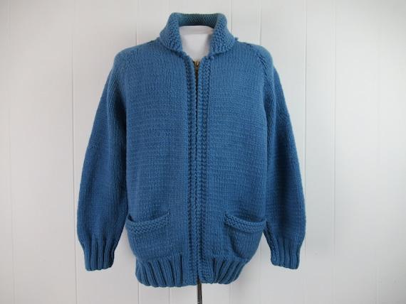 Vintage sweater, 1950s sweater, Cowichan sweater,