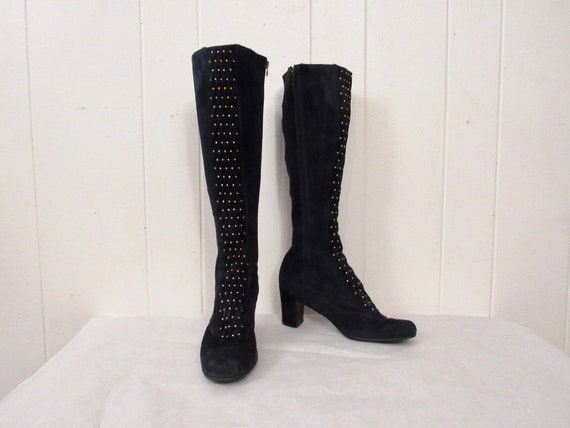 Vintage boots, tall boots, go go boots, 1970s boot