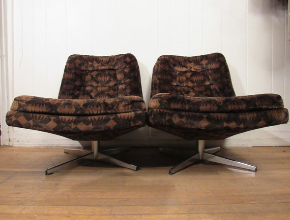 Stupendous 2 Scandinavian Chairs Mid Century Modern Furniture Club Chair Pair 1960S Chairs Swivel Chairs Ibusinesslaw Wood Chair Design Ideas Ibusinesslaworg