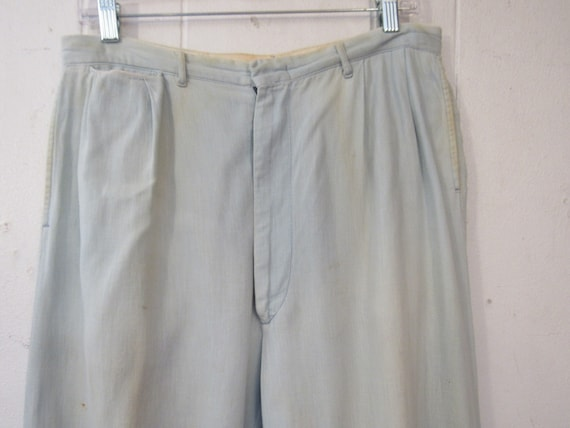 Vintage pants, work pants, 1940s pants, 1940s cha… - image 2