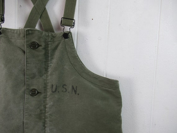 Vintage overalls, U.S.N. overall, 1940s overalls,
