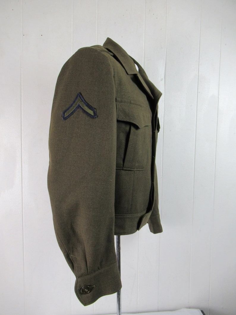Air Force patches 1940s jacket size medium military jacket vintage clothing Vintage jacket Ike jacket