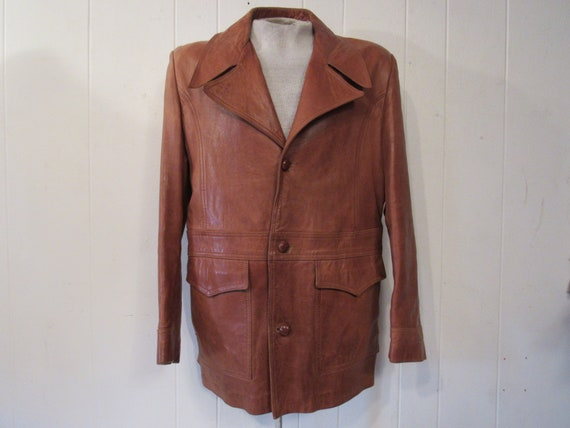 Vintage jacket, leather jacket, 1970s leather jack