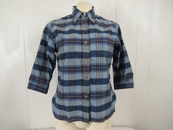 Vintage shirt, M, Madras shirt, 1960s shirt, Madra