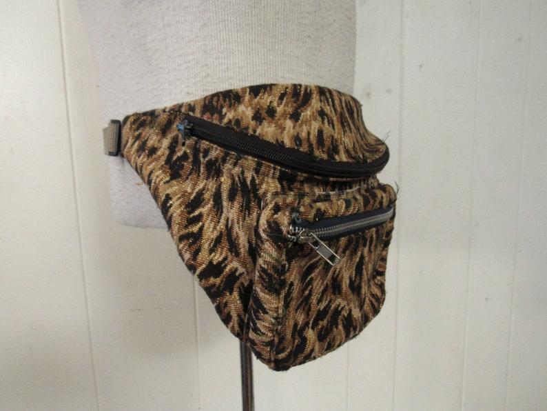 size large animal print fanny pack Vintage fanny pack vintage clothing leopard print fanny pack
